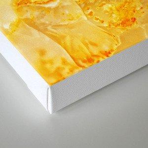 Yellow onyx marble Canvas Print