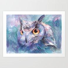 Illusive Owl Art Print