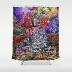 Astral Budha Shower Curtain