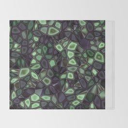 Fractal Gems 04 - Emerald Dreams Throw Blanket