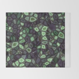 Fractal Gems 04 - Emerald Dreams Throw Blanket