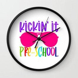 Kickin it preschool Wall Clock