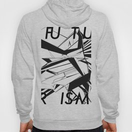 History of Art in Black and White. Futurism Hoody