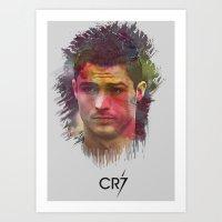 Cristiano Ronaldo Artwork. Art Print