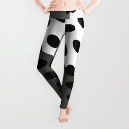 All Boxed Up - 3D Art Black & White Leggings