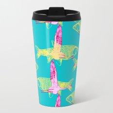 Flamingos and Fish Travel Mug