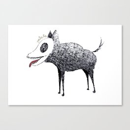 Strange dog Canvas Print