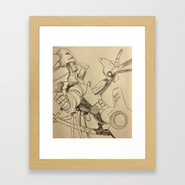 """Not the """"Hero Type""""...Clearly. Framed Art Print"""
