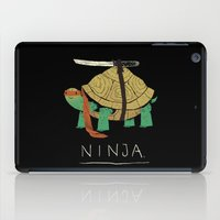 ninja turtle iPad Cases featuring ninja by Louis Roskosch