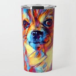 Chihuahua Watercolor Travel Mug