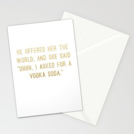 Vodka Soda Stationery Cards