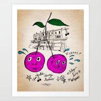 Cherry Twins Art Print