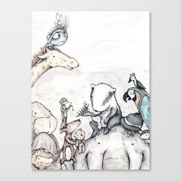 Animal pile  Canvas Print
