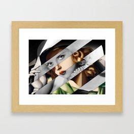 Tamara de Lempicka Girl in a Green Dress & Bette Davis Framed Art Print