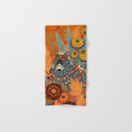 Foliage Cat Hand & Bath Towel