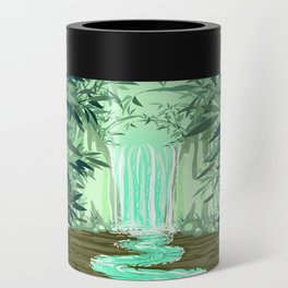 Fluorescent Waterfall on Surreal Bamboo Forest Can Cooler