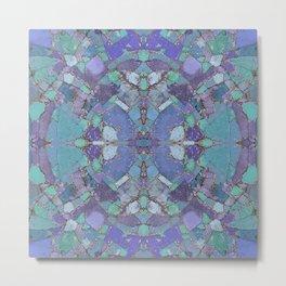 Abstract Terrazzo Kaleidoscope 617 Metal Print