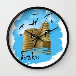 Baku. Maiden Tower Wall Clock