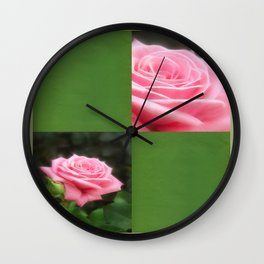 Pink Roses in Anzures 3 Blank Q5F0 Wall Clock