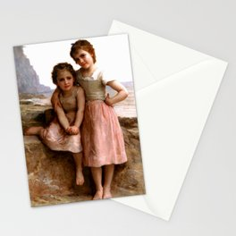"""William-Adolphe Bouguereau """"On the beach"""" Stationery Cards"""