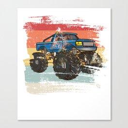 Retro Monster Truck Canvas Print