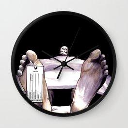 Toe Tag Wall Clock