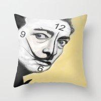dali Throw Pillows featuring Dali by Dano77