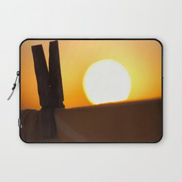 Clothes peg at sunrise Laptop Sleeve