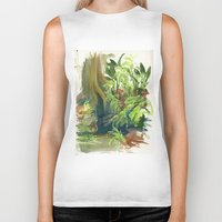jungle Biker Tanks featuring Jungle by Meredith Nolan