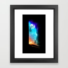 Everything you can imagine is real. Framed Art Print