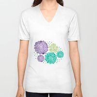 succulents V-neck T-shirts featuring The Succulents by haidishabrina