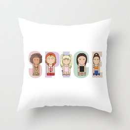 Spice Girls Throw Pillow