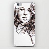 jennifer lawrence iPhone & iPod Skins featuring Jennifer Lawrence by dariemkova