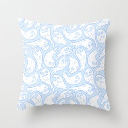 Good Lil' Ghost Gang in Baby Blue Throw Pillow
