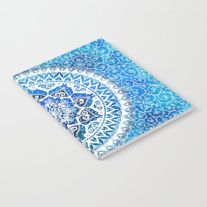 Watercolour Yin Yang Mandala Notebook