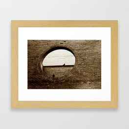 2 birds on stone Framed Art Print