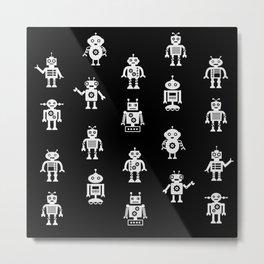 Robots Pattern Metal Print