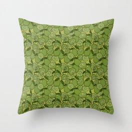 Lime Greenery Throw Pillow