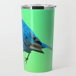 Poly blue bird Travel Mug