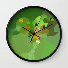 kelly - bright spring green abstract design Wall Clock