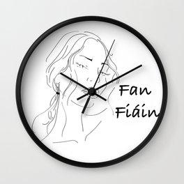 fan fíáín - wild woman Wall Clock
