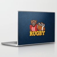 rugby Laptop & iPad Skins featuring RUGBY by frail
