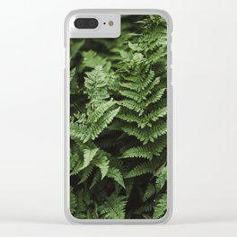 Bunches Of Green Fern Leaf Clear iPhone Case