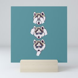 No Evil Husky Mini Art Print