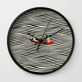 Illusionary Boat Ride Wall Clock