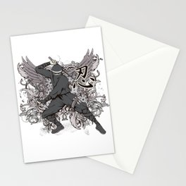 Ninja and Wings Stationery Cards