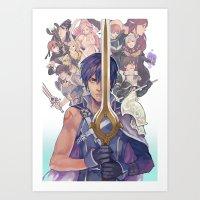 fire emblem Art Prints featuring Fire emblem awakening by KEL H