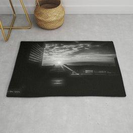Austin Sunset -  Black and White Rug