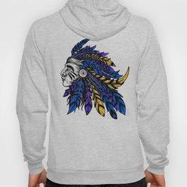 American Native Chieftain Head Hoody