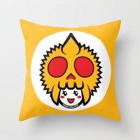 pagan Throw Pillows featuring Pagan Mustard by Pagan Holladay